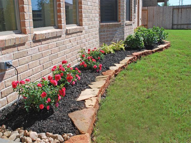 Photo gallery borders for Mulch border ideas