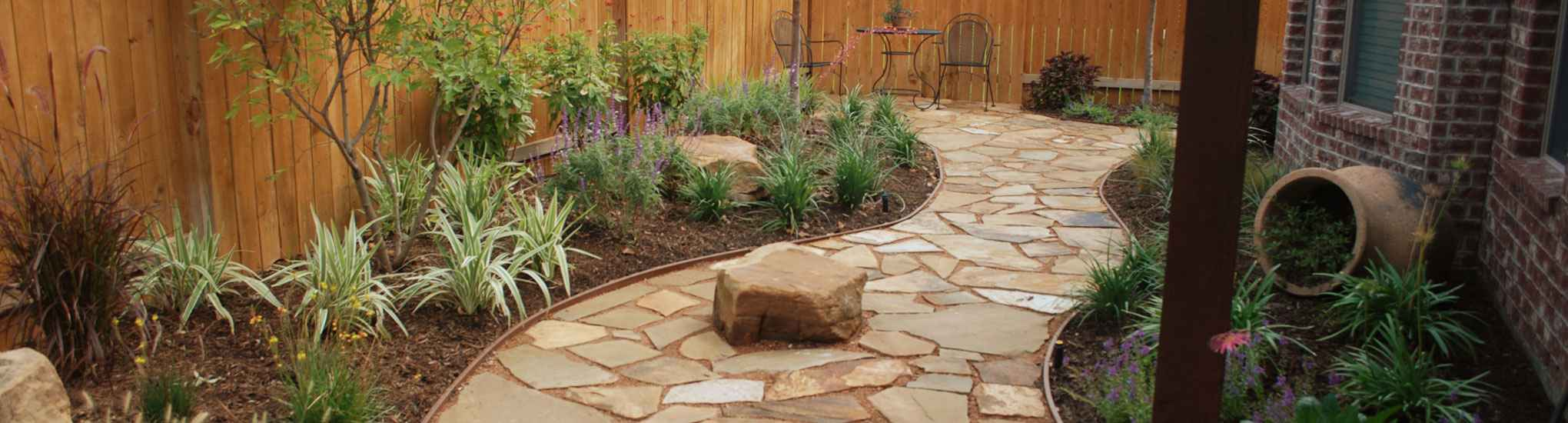 Sugar Land Landscape Flagstone Walkway Photo